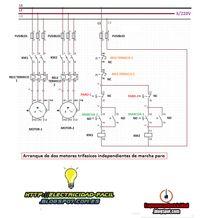 Esquemas eléctricos: arranque de dos motores trifasicos independientes ...