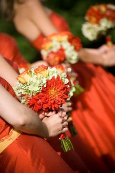Flowers, Bouquet, Red, Orange, Brea mcdonald photography