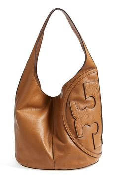 All T Pebbled Leather Hobo Bag, Bark by Tory Burch at Neiman  ...