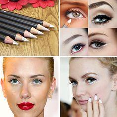 Moda profesional de Maquillaje de Ojos A Prueba de agua de Larga Duración de Secado rápido Natural Negro Marrón Blanco Herramienta Eyeliner Lápices Cosméticos Baratos