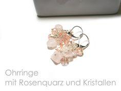 Ohrringe Rosenquarz Kristall von DeineSchmuckFreundin - Schmuck und Accessoires auf DaWanda.com
