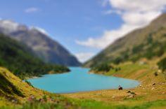 Small lake near Aosta, Italy
