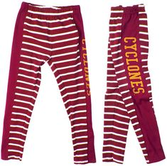 11bbbf57d NCAA Authentic Apparel Iowa State Cyclones Striped Leggings, Toddler Girls  (2T-4T)