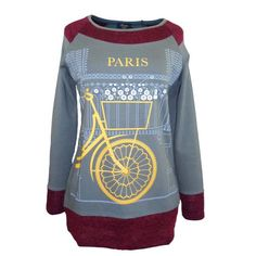 Camiseta mujer estampado bicicleta