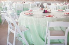 Green Wedding Linens