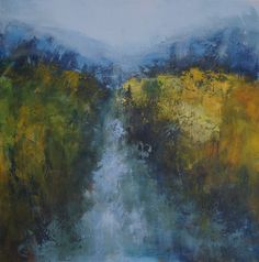 Brook and Blue Hills, 79 x 79cm, Acrylic on canvas, £700