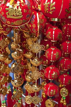 Look at all that red and gold! It's sure to be a lucky #YearOfTheHorse with these #ChineseNewYear decorations