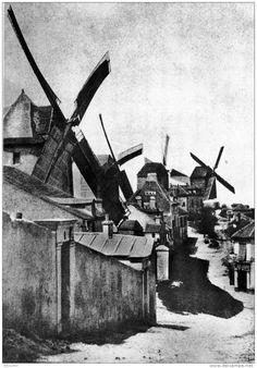 """Hippolyte BAYARD - """" Les Moulins de Montmartre """" 1839"""