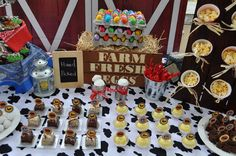 Farm Party candy buffet