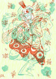 TAMARIT - Some illustrations for a zine festival.