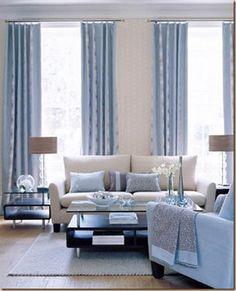 Soothing blue livingroom