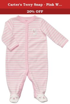 Carter's Terry Snap - Pink White Stripe Kitty-6M. Carters Terry Snap - Pink White Stripe Kitty Carter's is the leading brand of children's clothing, gifts and accessories in America, selling more than 10 products for every child born in the U.S. The designs are based on a heritage of quality and innovation that has earned them the trust of generations of families. .