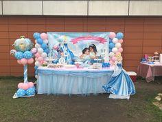 #cinderella #birthday #girl #backdrop #balloons #column #tabledecoration #bestbirthday