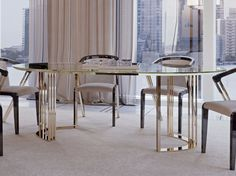 SYMPHONY - INFINITY Oval table Symphony - Infinity Collection by Bizzotto