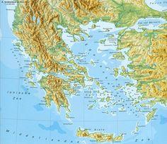 Griekenland : Griekenland op de kaart