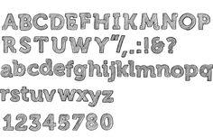 Hand drawn font by Camila Carmody, via Behance