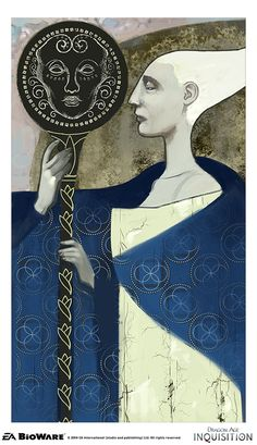 Dragon Age Inquisition - 'The Emperor' - Major Arcana tarot card, from Nick Thornborrow's tumblr, Bioware artist