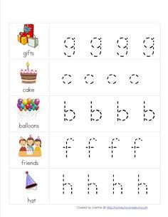 Free Birthday Preschool Pack