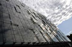 "S+S Arcjotetti.  Double skin façade. Refurbishment at Piazzale Luigi Sturzo 23-31, Rome (EUR).  Year: 2008-2010  Surface: 12.000 mq  Class ""A""."