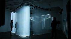 New Installation Traps Visitors in Prison of Light - My Modern Metropolis Wall Of Light, Light Art, Interior Lighting, Lighting Design, Video Installation, Projection Installation, Installation Architecture, Projection Mapping, Art Installations