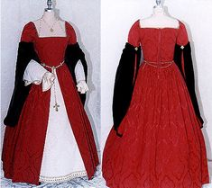 Regal looking medieval gown... really like the long sleeves that appear to be detachable with simple decorative buttons (or frogs?) I can do that!