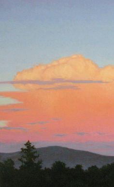 big cloud painting, detail, landscape painting, original oil painting http://terrysauve.com