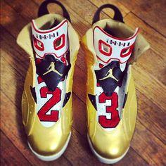 """Air Jordan 6 """"91 Champ"""" Custom"""