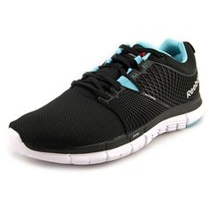 Reebok Zquick Dash Women Running Shoes ($38) ❤ liked on Polyvore featuring shoes, athletic shoes, black, light weight shoes, reebok footwear, black shoes, synthetic shoes and reebok athletic shoes
