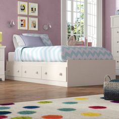 Three Posts Teen Northampt Mate's & Captain's Bed with Drawers Size: Twin, Colour: White Wash Twin Bunk Beds, Kid Beds, Bunk Beds With Drawers, Under Bed Drawers, Loft Bed Frame, Full Platform Bed, Captains Bed, Low Loft Beds, Houses
