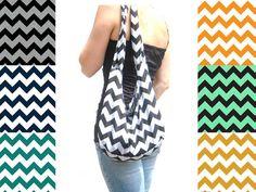 Chevron Hobo Bag. Jersey Fabric Bag. Boho by SmiLeaGainCreations, $30.00