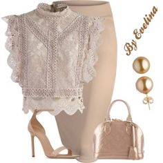 A fashion look from July 2017 featuring Chicwish tops, Yves Saint Laurent sandals и Louis Vuitton bags. Browse and shop related looks. Classy Outfits, Chic Outfits, Fashion Outfits, Womens Fashion, Office Fashion, Work Fashion, Fashion Looks, Business Outfits, Business Fashion