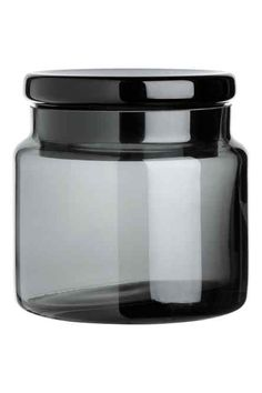 Glass jar with a lid
