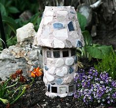 how to: fairy garden castle