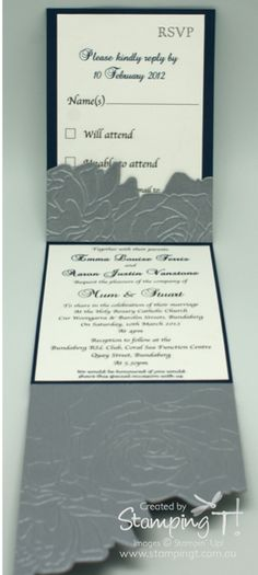 stampin up pocket wedding invites