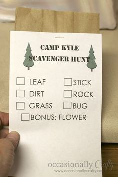 A Camping Birthday Party