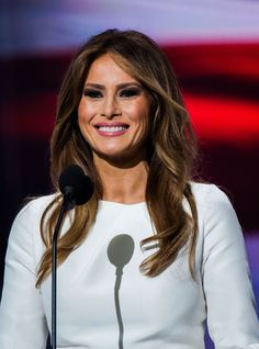 """Melania Trump Says Husband Was """"Egged On"""" To Engage In """"Boy Talk"""" +#refinery29"""