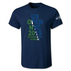 US Open 2015 Dated Men's Court T-Shirt By Days Off [Navy]
