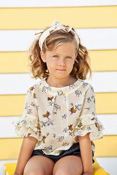 summery chair print blouse. https://www.facebook.com/TopStyleKids