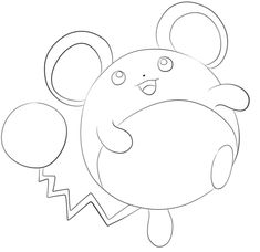 Click To See Printable Version Of Marill Coloring Page