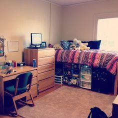 Dorm sweet dorm. ❤ #dorm #UNC #moveinday2013