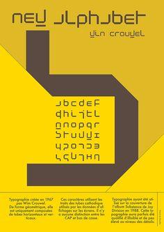 Typographie - Win Crouwel - Affiche on Behance