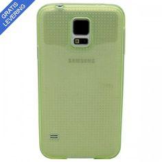 Grønt Samsung Galaxy S5 Cover - Transparent