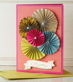 How-To: Paper Rosette Card - perfect for Mother's Day!