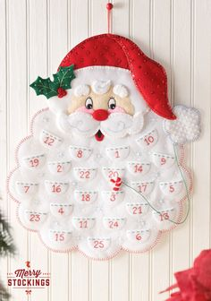 "New Bucilla Advent Calendar Kit ""Santa"" coming in early May. MerryStockings will have it on hand!9"
