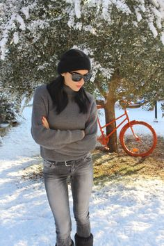 Pois jeans per un weekend sulla neve by Stefania Bravi @thecherryjam