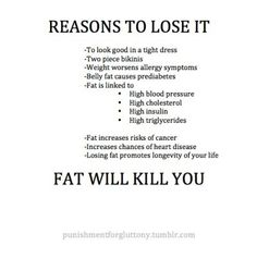 Reasons to lose it #healthy