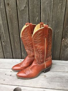 Vtg ACME Brown Leather Soft Lined WOMEN'S Cowboy Western BOOTS Size US 7.5 A #Acme #CowboyWestern