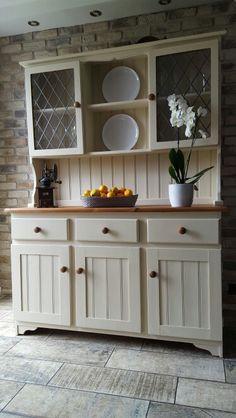 Transformation of welsh dresser using Everlong Double Cream chalk paint.