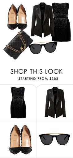 """""""Untitled #26"""" by lialil on Polyvore featuring Balmain, Alexandre Vauthier, Christian Louboutin, Smoke & Mirrors and Chanel"""