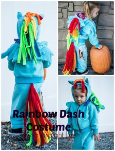 Rainbow Dash costume.  Inspired by Sugar Tart Crafts, sewn by Sew a Straight Line